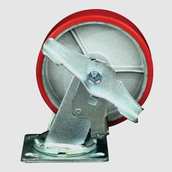rodaja-giratoria-6x2-fierro-poliuretano-freno-lateral